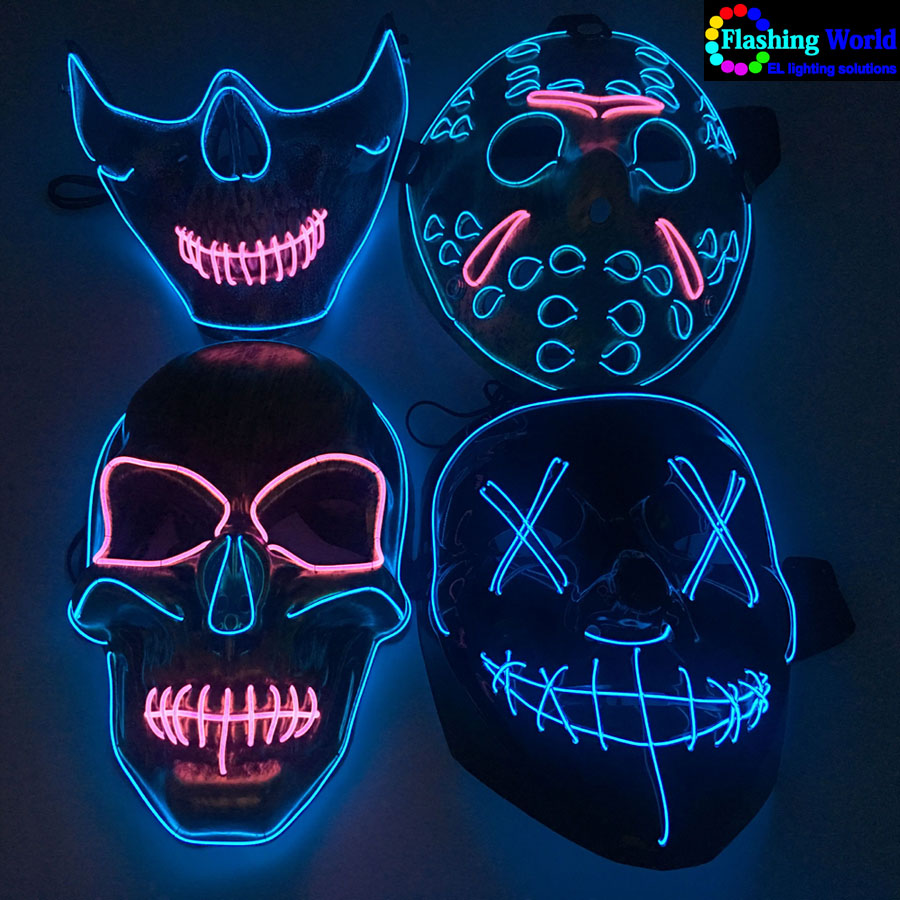 EL Wire mask,light wire mask for Festival,Party,Halloween,Dance Ball,Cosplay
