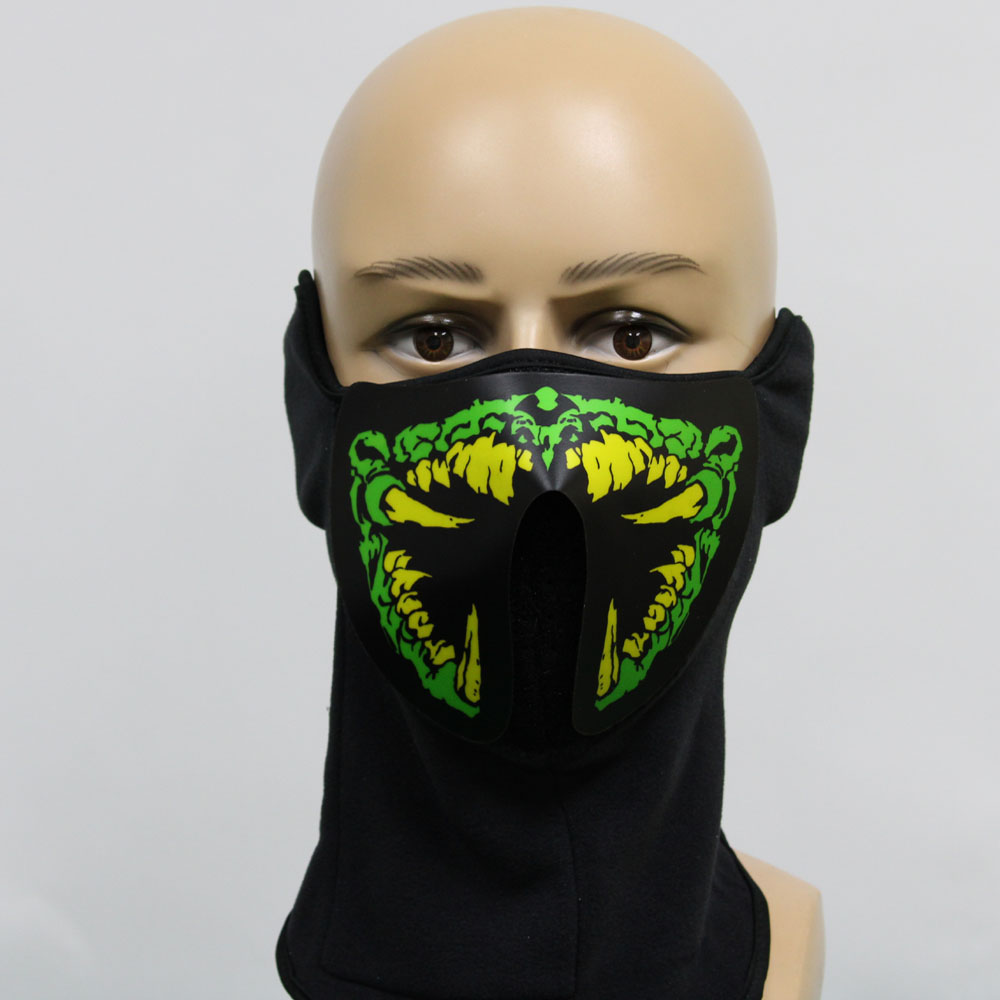 Hot selling Music LED Party Mask with Sound Active for Dancing,Riding,Skating,Party and Any Festival